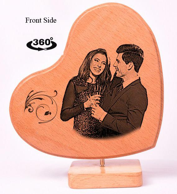 Heart Shaped Wooden Photo Frame Valentines BWP RHTL