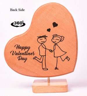 Heart Shaped Wooden Photo Frame Valentines BWP RHTS