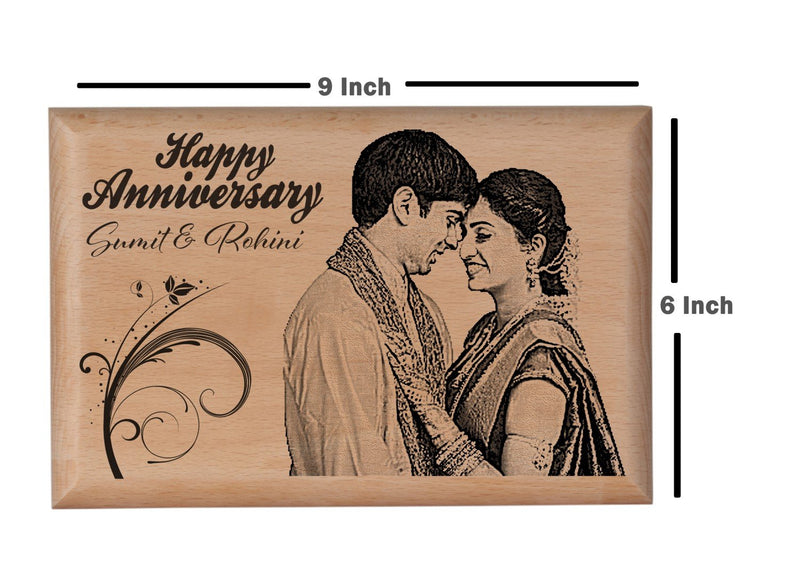 Personalised wooden gifts Anniversary BWP 9x6 inch