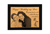 Personalised wooden gifts Birthday BWF 5x7 inch