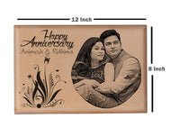 Personalised wooden photo frame Anniversary BWP 8x12 inch