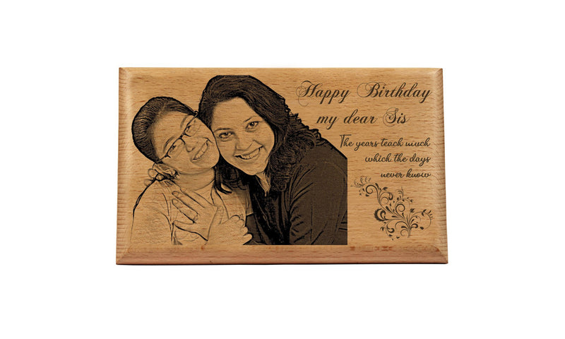 Personalised wooden plaques Birthday BWP 9x6 inch