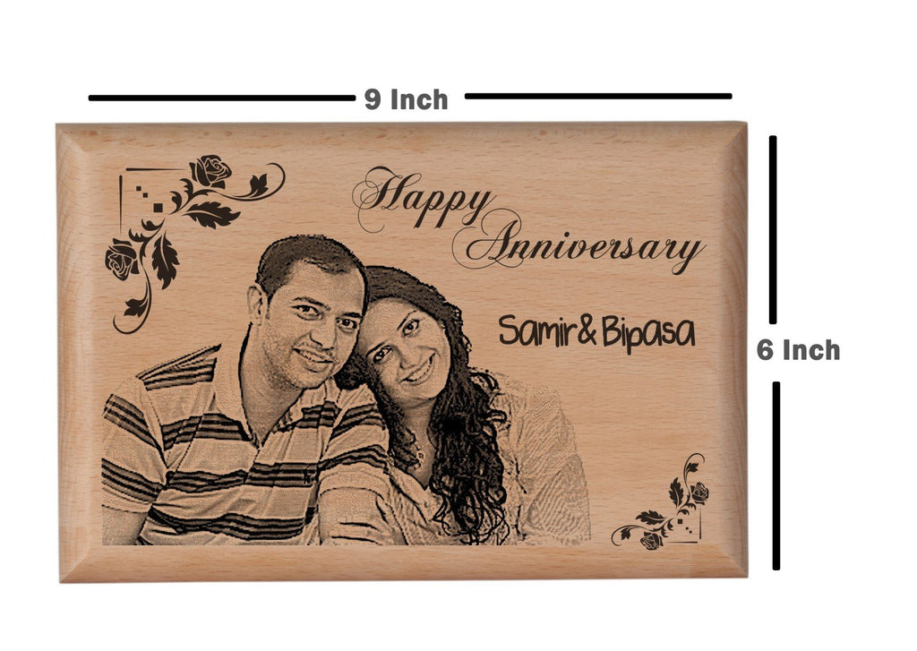 Personalized wooden gifts Anniversary BWP 9x6 inch