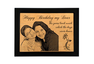 Personalized wooden photo frame Birthday BWF 8x12 inch