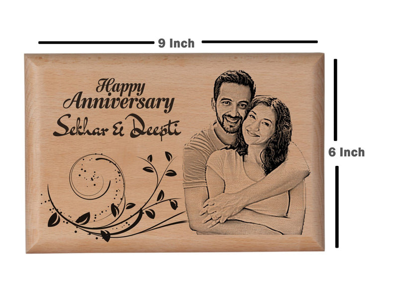 Personalized wooden plaques Anniversary BWP 9x6 inch