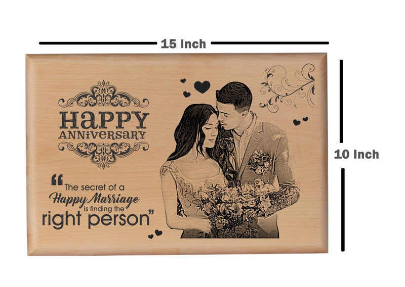 Wood carving gifts Anniversary BWP 10x15 inch