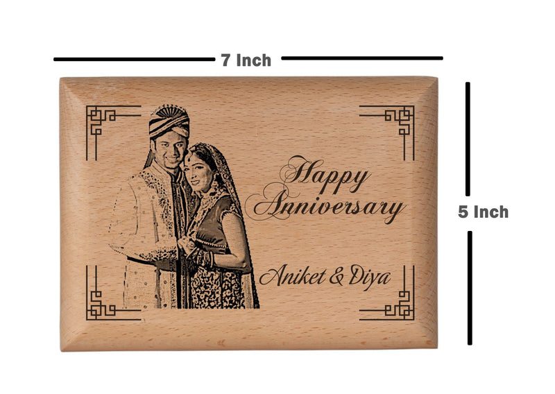 Wood carving gifts Anniversary BWP 5x7 inch