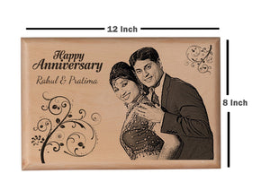 Wood carving gifts Anniversary BWP 8x12 inch