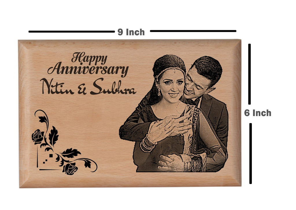 Wood carving gifts Anniversary BWP 9x6 inch