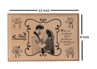 Wooden engraved photo frame Anniversary BWP 8x12 inch