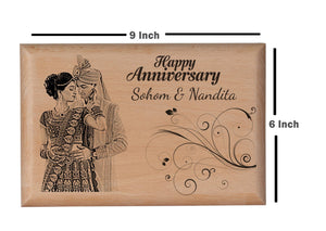 Wooden gifts online Anniversary BWP 9x6 inch