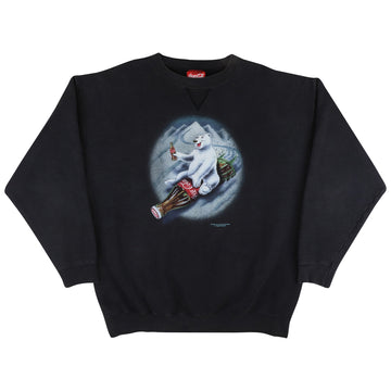 1997 Coca Cola Polar Bear Tobogganing Sweatshirt XL