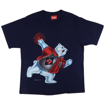 1996 Coca Cola Polar Bear Bowling T-Shirt XL