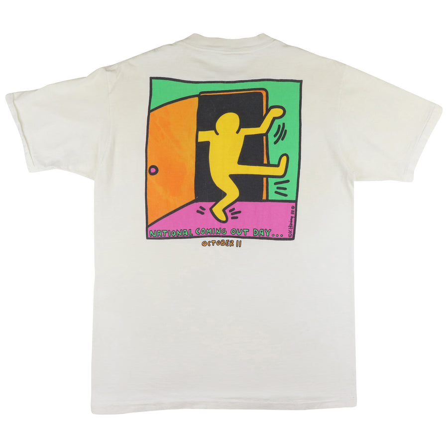 1988 Keith Haring National Coming Out Day T-Shirt L