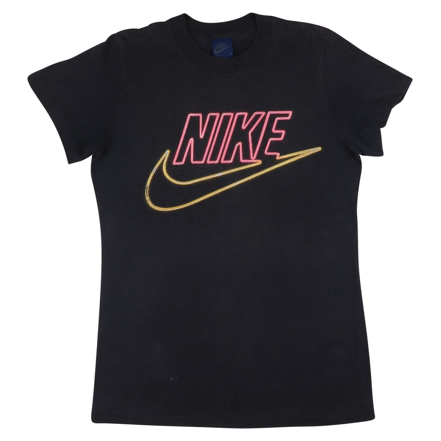 1980s Nike Blue Tag Womens Burn Out T-Shirt M
