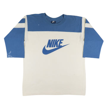1980s Nike Blue Tag 3/4 Sleeve Football T-Shirt XL