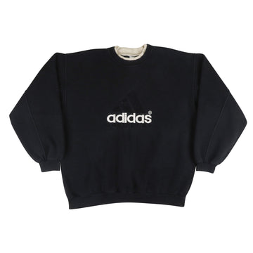 1990s Adidas Equipment Tonal Mountain Logo Bootleg Sweatshirt 2XL