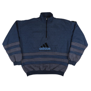 1990s Adidas Equipment Half Zip Bootleg Sweatshirt XL