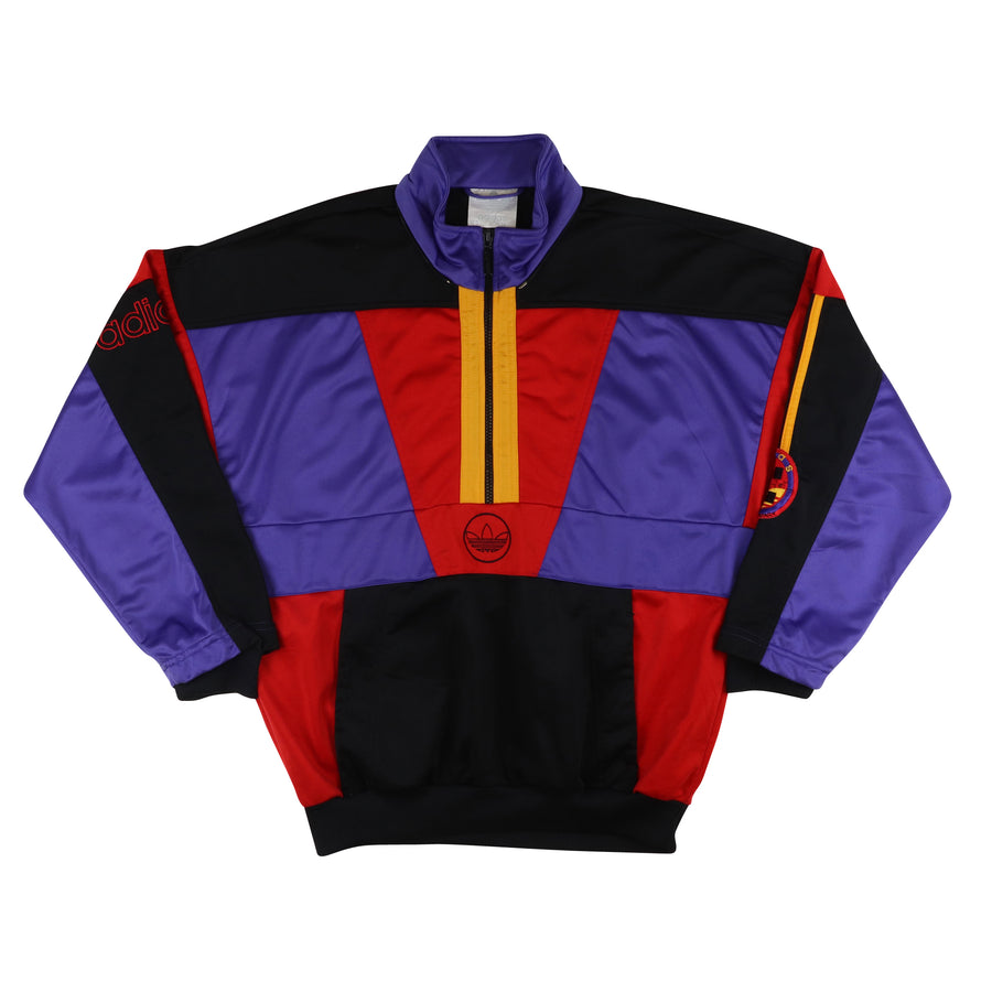 1980s Adidas World Of Sports Half Zip Track Jacket M