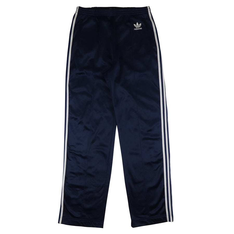 1990s Adidas Three Stripe Fleece Backed Track Pants L