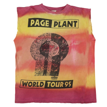 1995 Jimmy Page & Robert Plant World Tour Tie Dye Custom Tank Top XL