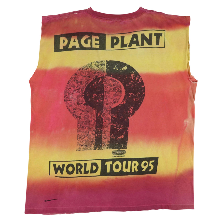 1995 Led Zeppelin Page & Plant World Tour Tie Dye Custom Tank Top XL
