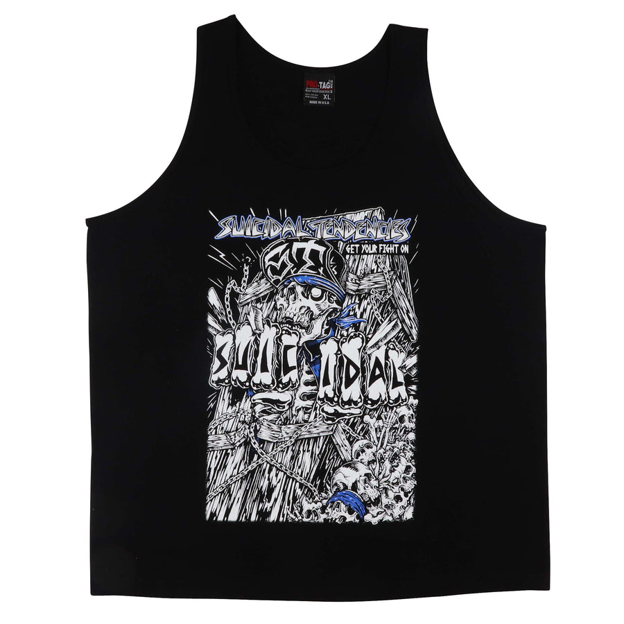 2000s Suicidal Tendencies Get Your Fight On Tank Top XL