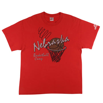1992 Nike Nebraska Cornhuskers Basketball Camp T-Shirt XL