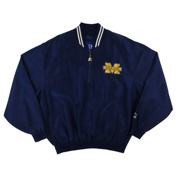 1990s Starter Michigan Wolverines Half Zip Jacket XL