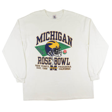 1998 Michigan Wolverines Rose Bowl Long Sleeve Shirt XL
