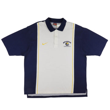 1990s Nike Michigan Wolverines Polo Shirt XL