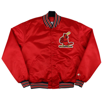 1990s Starter St. Louis Cardinals Snap Front Satin Jacket XL