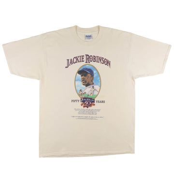 1997 Jackie Robinson 50th Anniversary Dodgers T-Shirt XL