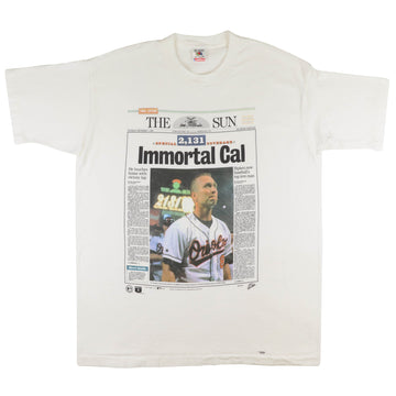 1995 Baltimore Orioles Immortal Cal Ripken Jr. T-Shirt XL