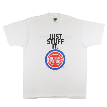 1990s Detroit Pistons 'Just Stuff It' Detroit News T-Shirt XL