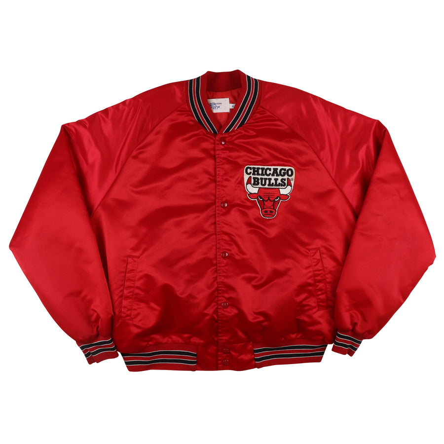 1990s Chalk Line Chicago Bulls Snap Front Satin Jacket XL
