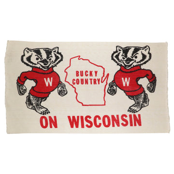 1980s Wisconsin Badgers 'Bucky Country' Woven Rug