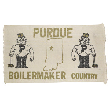 1980s Purdue Boilermakers 'Boilermaker Country' Woven Rug