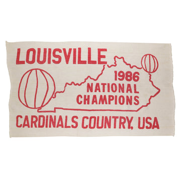 1986 Louisville 'Cardinals Country' National Champs Woven Rug