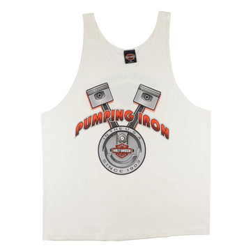 1990s Harley Davidson Pumping Iron Tank Top XL