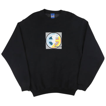 1990s Planet Earth Skateboards Classic Logo Sweatshirt M