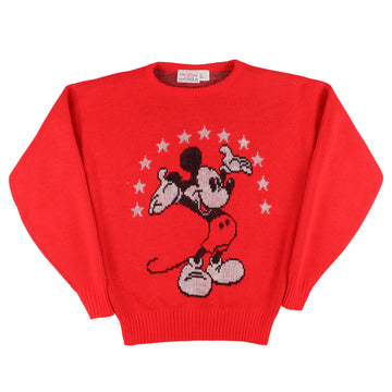 1970s Cliff Engle Mickey Mouse Womens Knit Sweater M