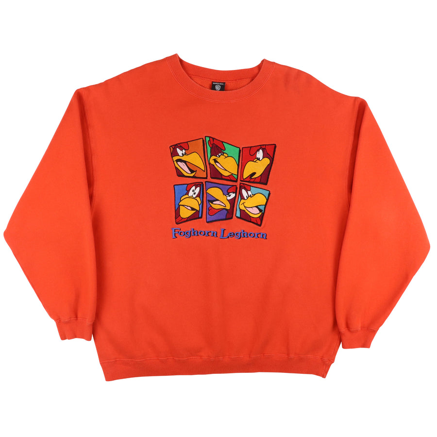1990s Looney Tunes Foghorn Leghorn Embroidered Sweatshirt L