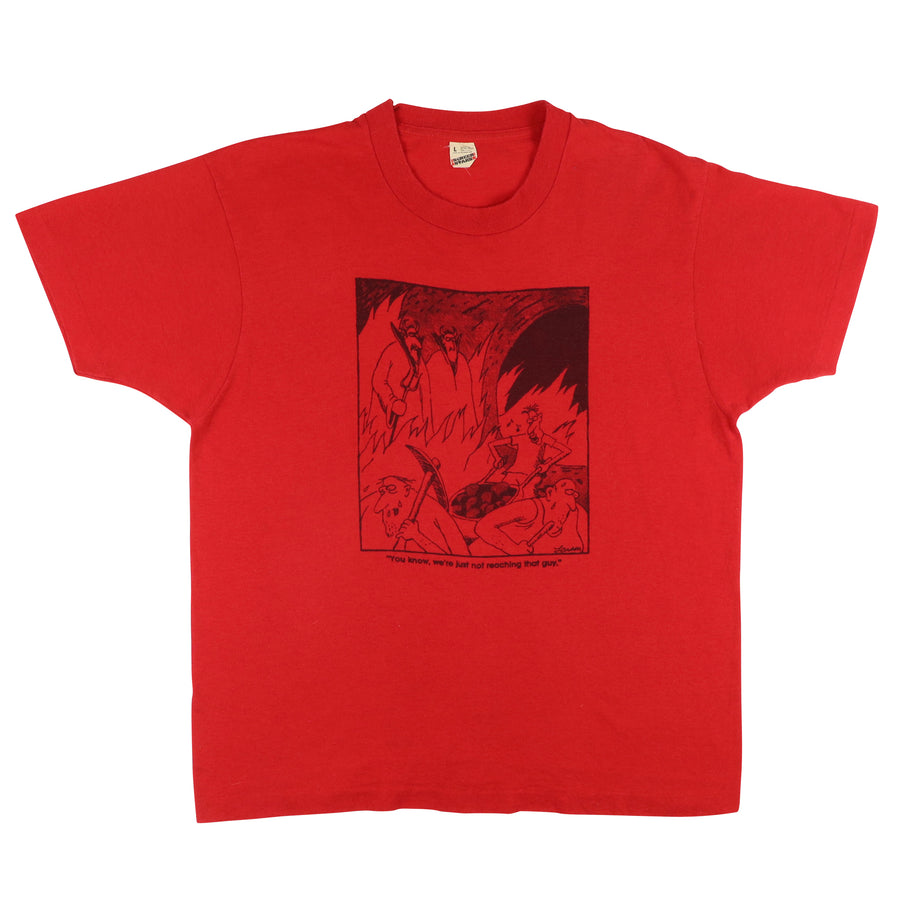 1980s Gary Larson Cartoonist The Devil Far Side T-Shirt L