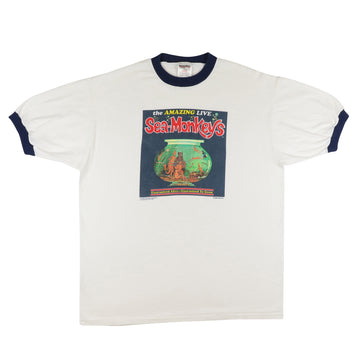 1996 The Amazing Live Sea-Monkeys Ringer T-Shirt XL