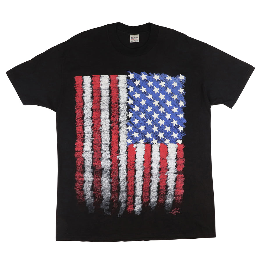 1990 Wild Oats USA American Flag T-Shirt XL