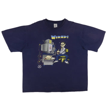 1990s Wired Computer Gaming Nerd T-Shirt 2XL