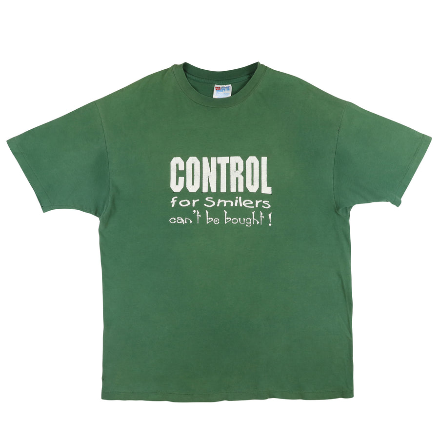1990s Control For Smilers Can't Be Bought T-Shirt XL