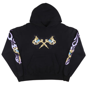 2001 Tattoo Needle Hooded Sweatshirt M