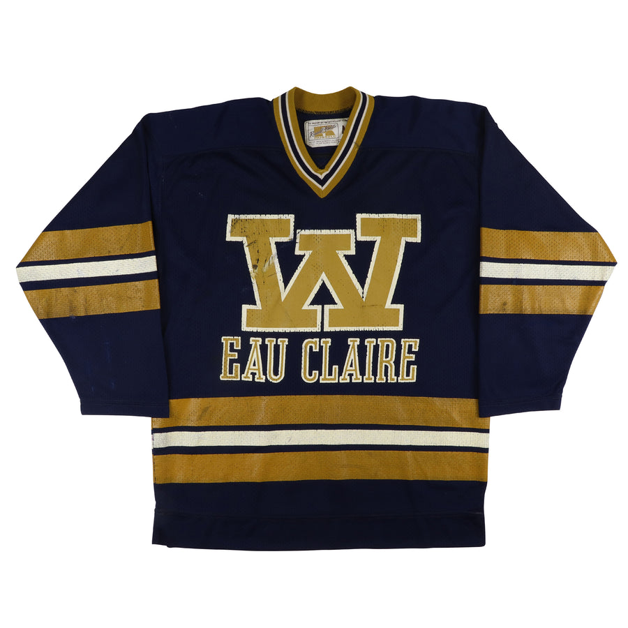 1980-1982 Game Used University Eau Claire Wisconsin Jersey M